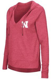 """Nebraska Cornhuskers Women's NCAA """"Never Doubt"""" V-neck Hooded Shirt"""