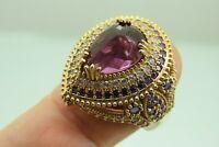 Turkish Handmade Jewelry 925 Sterling Silver Amethyst Stone Women Ring Sz 7