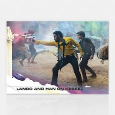2018 TOPPS NOW COUNTDOWN TO SOLO: A STAR WARS STORY #7 LANDO AND HAN ON KESSEL