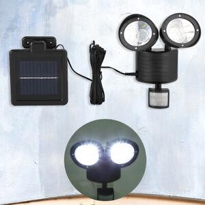 LED Solarleuchte mit Bewegungsmelder Solarstrahler Solar Lampe Gartenlampe Neu