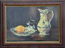 Nature morte dans le goût de Cézanne signature R BESSET Ecole lyonnaise Bénézit