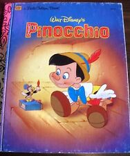 LITTLE GOLDEN BOOK   WALTER DISNEY'S PINOCCHIO  hb 1990