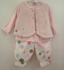 BABY GIRL'S 0-3 MONTHS 3 PIECE SET OUTFIT BY DIZZY DAISY TROUSERS TOP & GILET NE