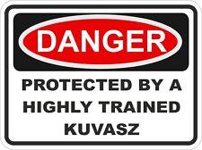 Dog KUVASZ Breed Danger Sticker Pet for Bumper Locker Car Door Locker