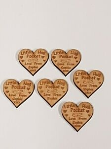 A134 Little Pocket Hugs Any First Name  Engraved  Thank You Pack of 20