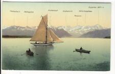 AK Starnbergersee mit Zugspitze, Segelboot, 1910