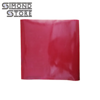 """High Temp Solid Red Standard Grade 1//8"""" x 10"""" x 10"""" Silicone Rubber Sheet"""