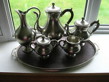 Royal Holland 6 Pc Pewter Coffee Tea Service Set