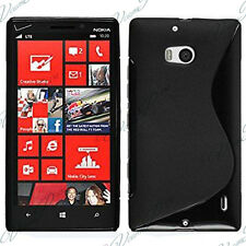 Housses Coque Etui Noir TPU S Silicone GEL Motif S S-line Vague Nokia Lumia 930
