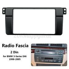 CD Radio Fascia Panel Plate Surround Frame 2 Din For BMW 3 Series E46 1998-2005