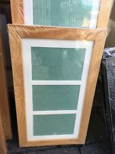 """18""""x9"""" pine picture frame with multi mount to fit 3 7""""x5"""" photos"""