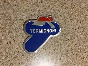 TERMIGNONI Aluminium Heat Resistant Sticker Emblem badge 3D Decal Mx Exhaust