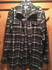 Carhartt Plaid Long Sleeve Shirt w/ Pearl Snap Buttons Sz XL Relaxed Fit