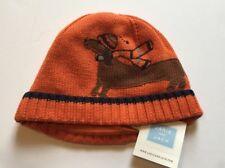 NWT Janie & Jack Winter Sled 2T-3T Orange Dachshund Dog Sweater Hat