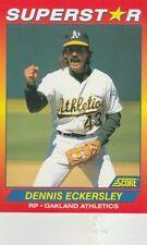 FREE SHIPPING-MINT-1992 Score 56 Dennis Eckersley New York Yankees SUPERSTAR
