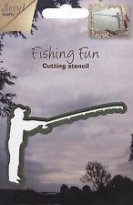 Fisherman Fishing Fun Die Steel Dies by Joy! Crafts DIE # 6002/0152 New