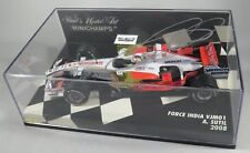FORCE INDIA FERRARI VJM01 #20 Adrian Sutil F1 2008 signed box MINICHAMPS 1:43
