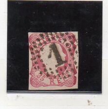 Portugal Monarquias Valor nº 12 con obliteración nº 1 año 1856-58 (DB-326)