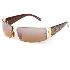 DG Womens Rimless Fashion Designer Sunglasses Shades Rectangular Wrap Brown Gold