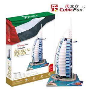 CubicFun 3D Puzzles Burjal Arab Model Cardboard Jigsaw Puzzle Toy MC101h