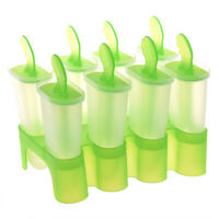 8 Cell Frozen Ice Cream Pop Mold Popsicle Maker Lolly Mould Tray Pan Kitche Z1T6