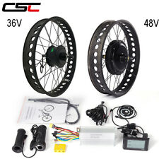 electric snow fat bicycle Conversion Kit 36V 350W 500W 48V 1000W 1500W 4.0 Tyre