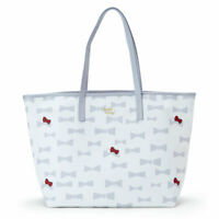 SANRIO HELLO KITTY Tote Bag L Size Ivory (Plune)  Kawaii Japan