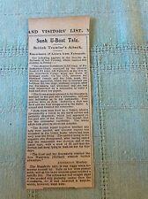b2-5 ephemera ww1 1916 article steamer soerakrata kawl sink german u boat