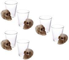 6 x shot glasses with skull great for parties gifts halloween or barbeques bbq