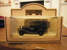 Lledo Days Gone 1934 Model A Ford Car with Black Taxi decals
