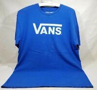 VANS SHOES LOGO ORIGINAL CLASSIC BLUE LARGE T-SHIRT