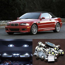 20×white Interior lamp LED Light Kit for BMW M3 E46 convertible (1999-2005)