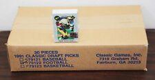1991 Classic Draft Picks Factory Football Set Case (30)
