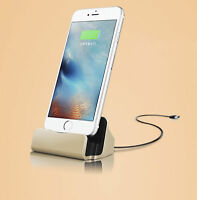 Docking Station Charger Charging Cable For Apple IPHONE Dock Gold