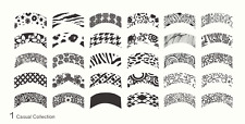 MoYou Nail Fashion Stamping Nail Art Image Plate 1 Casual Collection French Tips