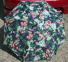 Lauren Ralph Lauren Plaid Floral Umbrella Polo Standard Classic Vintage