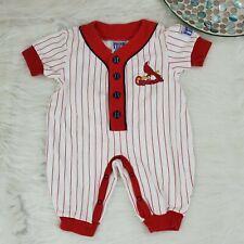 Vtg Rookie League Baby Boys St Louis Cardinals Romper Size 3/6 Months Outfit 971