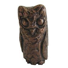 Bronze Figur Skulptur Eule schlafend  Bronze sculpture Owl sleeping