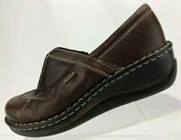 Josef Seibel Loafers Brown Leather Zip Comfort Platform Shoes Womens 40 9/9.5