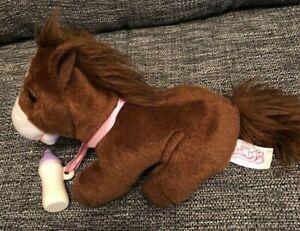 "Animagic Horse With Bottle Makes Sound 8"" Soft Toy"