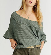 Free People Westend Thermal Top Army Green Large NWT