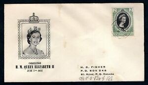 Montserrat - 1953 QE2 Coronation Illustrated First Day Cover