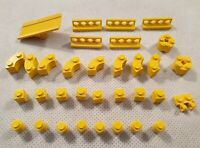 Mixed Bundle of Vintage Lego Yellow Blocks and Pieces Fences Curves 1960s 1970s