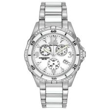 Citizen Women's Chronograph Diamond Accent Ceramic Band 40mm Watch Fb1230-50A