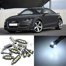 Error Free White 10pcs Interior LED Light Kit for 2008-2012 Audi TT Quattro MK2