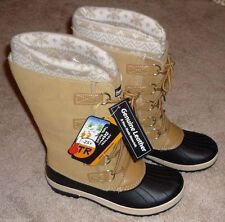 WOMENS SIZE 10 WINTER SNOW PAC BOOTS TAN RATED -5 DEGREES - BRAND NEW w/ TAG