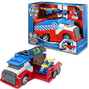 Paw Patrol Ready Race Rescue Mobile Pit Stop & Chase Figure Vehicle New Toy 3+