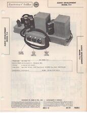 1951 AUDIO DEVELOPMENT 71-F AMPLIFIER  SERVICE MANUAL PHOTOFACT SCHEMATIC REPAIR
