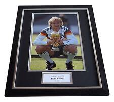 Rudi Voller SIGNED FRAMED Photo Autograph 16x12 display Germany AFTAL & COA