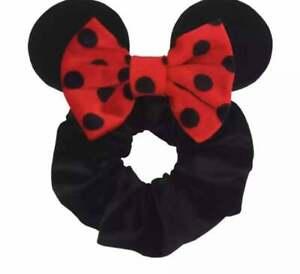 Mickey Mouse Scrunchie, Minnie Mouse Ears, Black Scrunchies, Disney Scrunchie